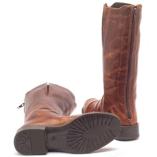 Laranja_Lima_Shoes_Sapatos_Femininos_Bota_Cano_Curto_Salto_de_2_cm_em_Couro_Marrom_-_Codigo_-_141003_2