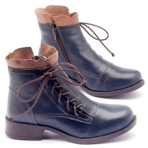 Laranja_Lima_Shoes_Sapatos_Femininos_Bota_Cano_Curto_em_Couro_Marinho_-_Codigo_-_141004_1