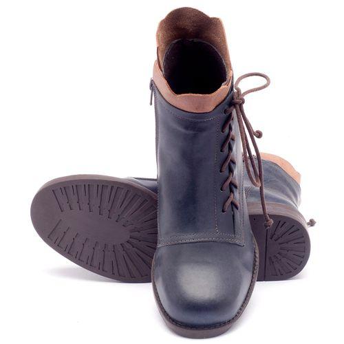 Laranja_Lima_Shoes_Sapatos_Femininos_Bota_Cano_Curto_em_Couro_Marinho_-_Codigo_-_141004_2