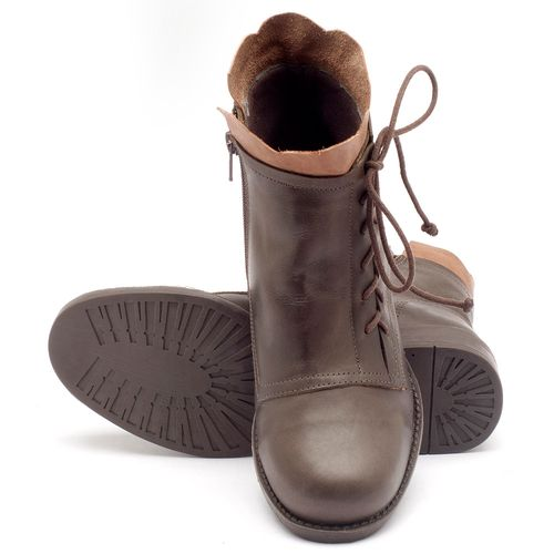 Laranja_Lima_Shoes_Sapatos_Femininos_Bota_Cano_Curto_em_Couro_Verde_-_Codigo_-_141004_2