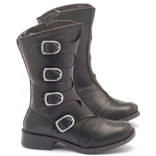 Laranja_Lima_Shoes_Sapatos_Femininos_Bota_Cano_Medio_Salto_de_4_cm_em_Couro_Preto_-_Codigo_-_141005_1