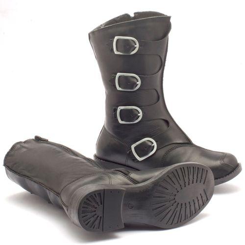 Laranja_Lima_Shoes_Sapatos_Femininos_Bota_Cano_Medio_Salto_de_4_cm_em_Couro_Preto_-_Codigo_-_141005_2