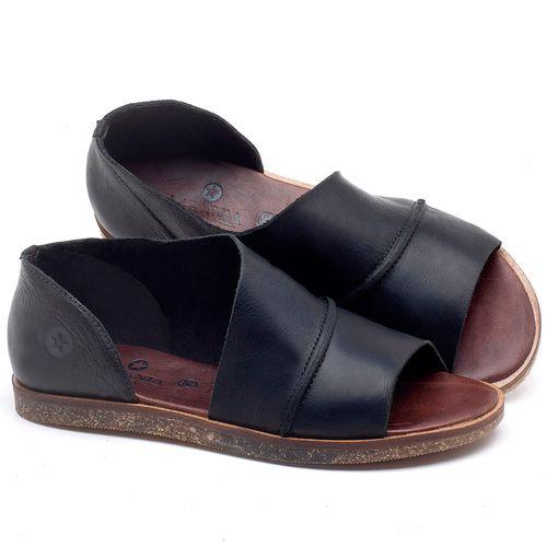 Laranja_Lima_Shoes_Sapatos_Femininos_Sandalia_Rasteira_Flat_em_Couro_Preto_-_Codigo_-_141055_1
