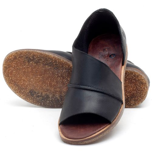 Laranja_Lima_Shoes_Sapatos_Femininos_Sandalia_Rasteira_Flat_em_Couro_Preto_-_Codigo_-_141055_2