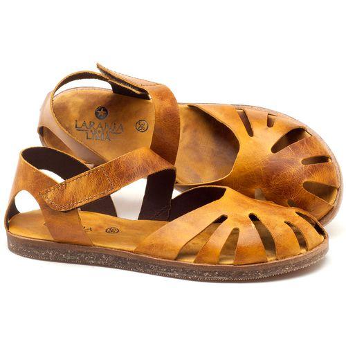 Laranja_Lima_Shoes_Sapatos_Femininos_Sandalia_Rasteira_Flat_em_Couro_Amarelo_-_Codigo_-_141061_1