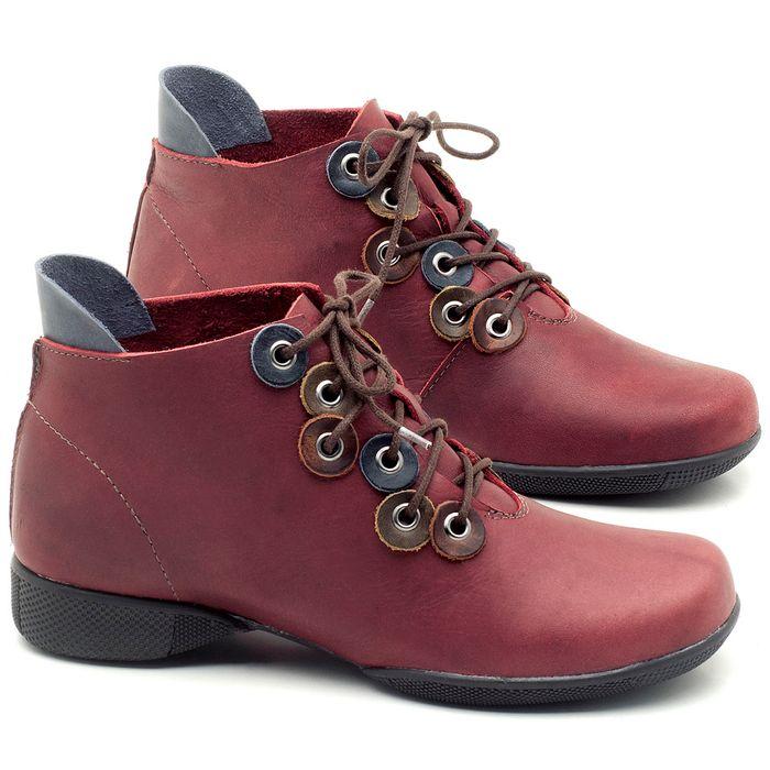 Laranja_Lima_Shoes_Sapatos_Femininos_Flat_Boot_em_Couro_Vinho_-_Codigo_-_141063_1
