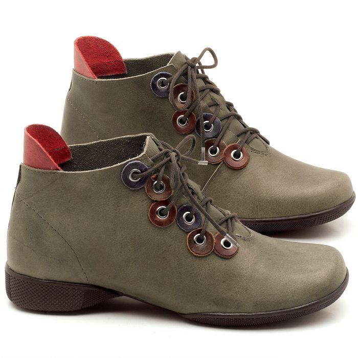 Laranja_Lima_Shoes_Sapatos_Femininos_Flat_Boot_em_Couro_Musgo_-_Codigo_-_141063_1