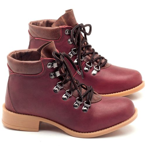 Laranja_Lima_Shoes_Sapatos_Femininos_Bota_Cano_Curto_em_Couro_Vinho_-_Codigo_-_141065_1