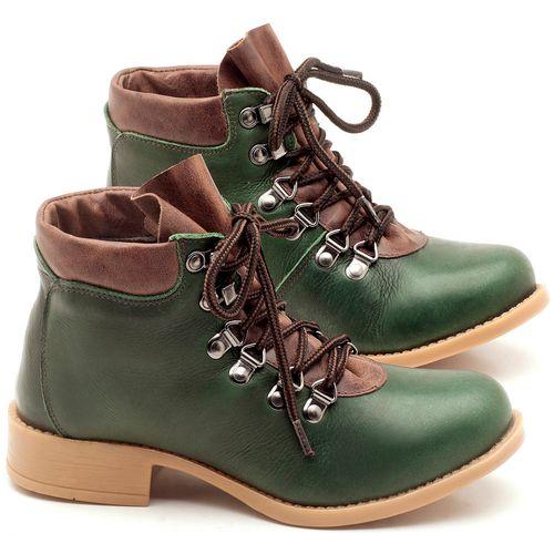 Laranja_Lima_Shoes_Sapatos_Femininos_Bota_Cano_Curto_em_Couro_Verde_-_Codigo_-_141065_1