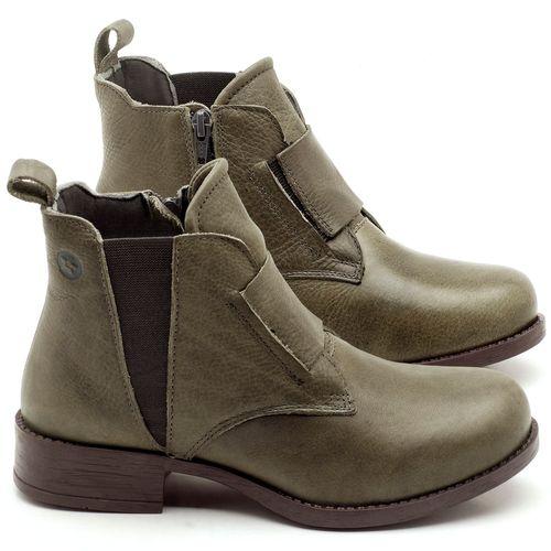 Laranja_Lima_Shoes_Sapatos_Femininos_Bota_Cano_Curto_em_Couro_Musgo_-_Codigo_-_141067_1