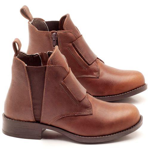 Laranja_Lima_Shoes_Sapatos_Femininos_Bota_Cano_Curto_em_Couro_Marrom_-_Codigo_-_141067_1