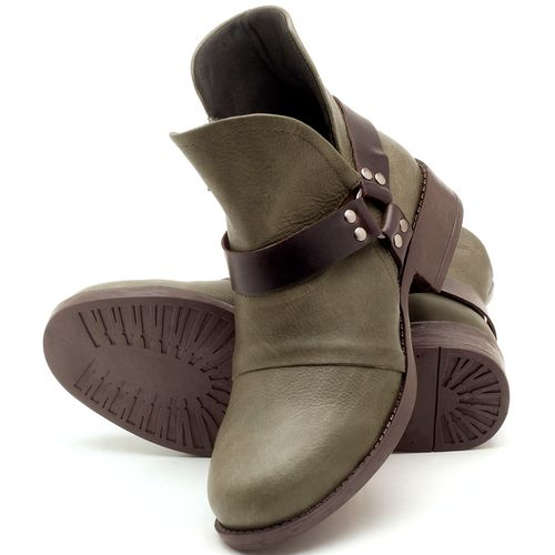 Laranja_Lima_Shoes_Sapatos_Femininos_Bota_Cano_Curto_Salto_de_2_cm_em_Couro_Musgo_-_Codigo_-_141068_2