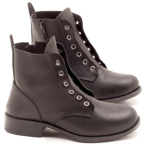 Laranja_Lima_Shoes_Sapatos_Femininos_Bota_Cano_Curto_Salto_de_2_cm_em_Couro_Preto_-_Codigo_-_141069_-