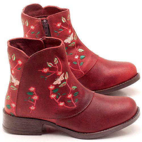 Laranja_Lima_Shoes_Sapatos_Femininos_Bota_Cano_Curto_em_Couro_Vinho_-_Codigo_-_141071_1