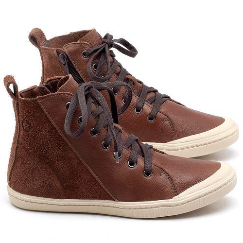 Laranja_Lima_Shoes_Sapatos_Femininos_Tenis_Cano_Alto_em_Couro_Marrom_-_Codigo_-_141075_1