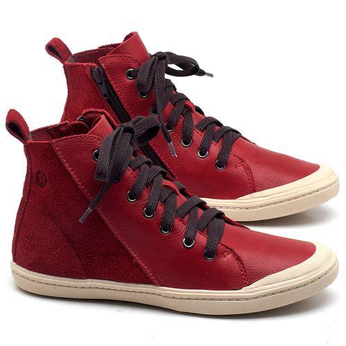 Laranja_Lima_Shoes_Sapatos_Femininos_Tenis_Cano_Alto_em_Couro_Vermelho_-_Codigo_-_141075_1