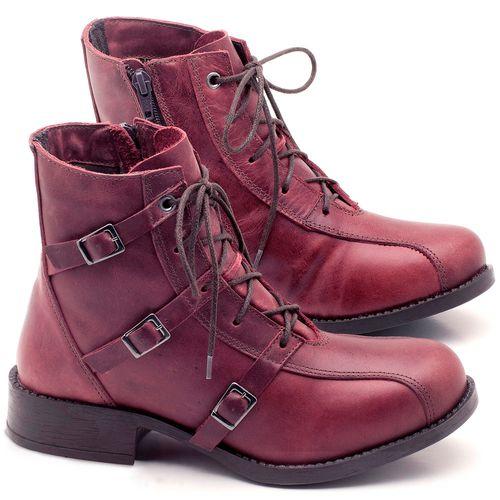Laranja_Lima_Shoes_Sapatos_Femininos_Bota_Cano_Curto_em_Couro_Vinho_-_Codigo_-_141077_1