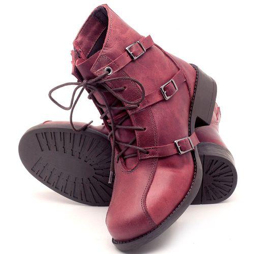 Laranja_Lima_Shoes_Sapatos_Femininos_Bota_Cano_Curto_em_Couro_Vinho_-_Codigo_-_141077_2