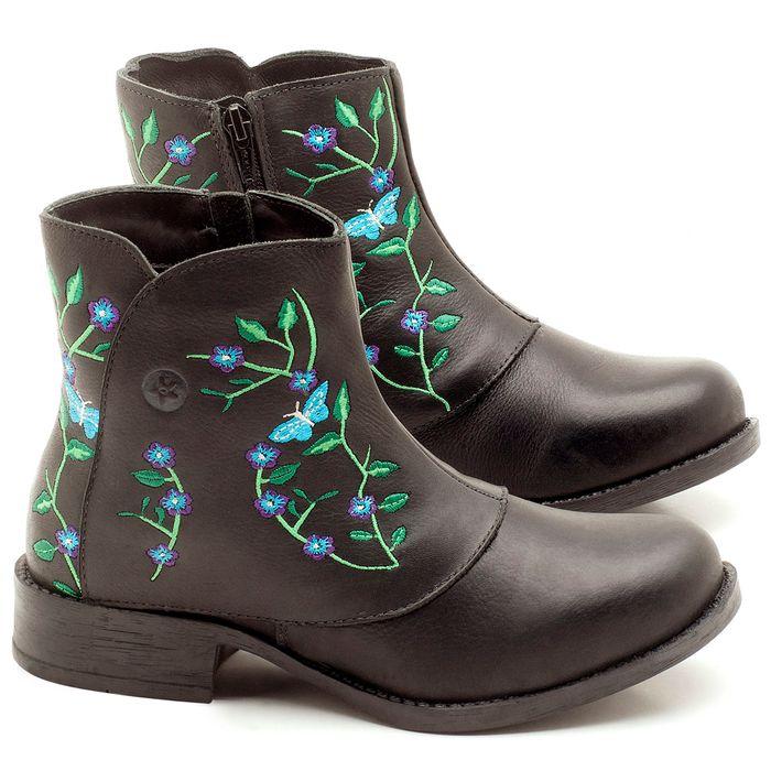 Laranja_Lima_Shoes_Sapatos_Femininos_Bota_Cano_Curto_Salto_de_2_cm_em_Couro_Preto_-_Codigo_-_141078_1