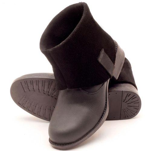 Laranja_Lima_Shoes_Sapatos_Femininos_Bota_Cano_Curto_Salto_de_2_cm_em_Couro_Preto_-_Codigo_-_141082_2