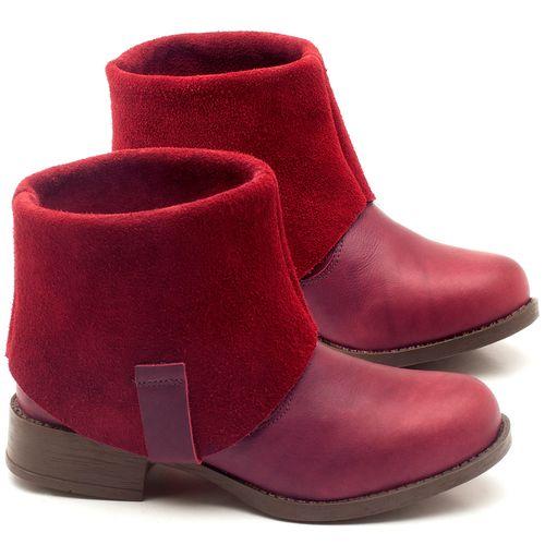 Laranja_Lima_Shoes_Sapatos_Femininos_Bota_Cano_Curto_Salto_de_2_cm_em_Couro_Vinho_-_Codigo_-_141082_1