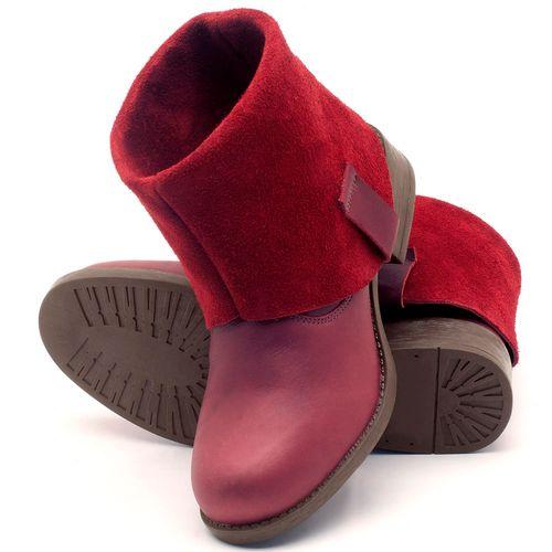 Laranja_Lima_Shoes_Sapatos_Femininos_Bota_Cano_Curto_Salto_de_2_cm_em_Couro_Vinho_-_Codigo_-_141082_2