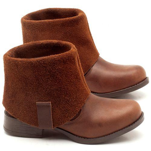 Laranja_Lima_Shoes_Sapatos_Femininos_Bota_Cano_Curto_Salto_de_2_cm_em_Couro_Marrom_-_Codigo_-_141082_1