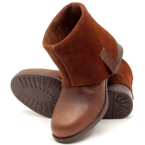 Laranja_Lima_Shoes_Sapatos_Femininos_Bota_Cano_Curto_Salto_de_2_cm_em_Couro_Marrom_-_Codigo_-_141082_2