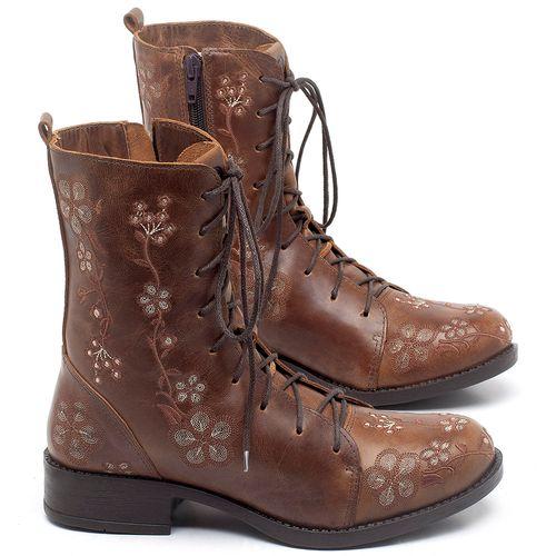 Laranja_Lima_Shoes_Sapatos_Femininos_Bota_Cano_Curto_Salto_de_2_cm_em_Couro_Marrom_-_Codigo_-_141083_1