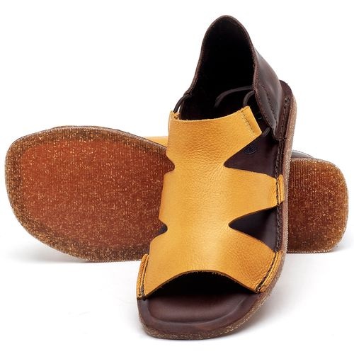 Laranja_Lima_Shoes_Sapatos_Femininos_Sandalia_Rasteira_Flat_em_Couro_Amarelo_-_Codigo_-_141094_2
