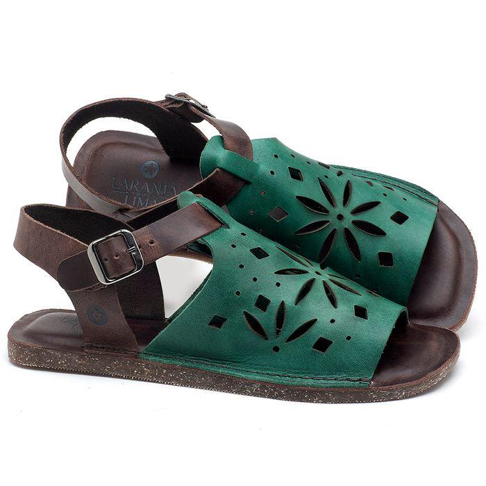 Laranja_Lima_Shoes_Sapatos_Femininos_Sandalia_Rasteira_Flat_em_Couro_Verde_-_Codigo_-_141095_1