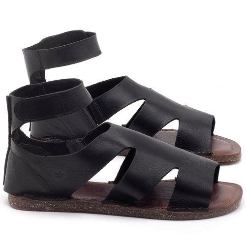 Laranja_Lima_Shoes_Sapatos_Femininos_Sandalia_Rasteira_Flat_em_Couro_Preto_-_Codigo_-_141096_1