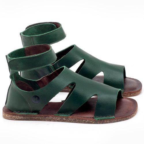 Laranja_Lima_Shoes_Sapatos_Femininos_Sandalia_Rasteira_Flat_em_Couro_Verde_-_Codigo_-_141096_1
