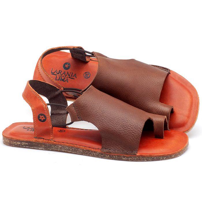 Laranja_Lima_Shoes_Sapatos_Femininos_Sandalia_Rasteira_Flat_em_Couro_Marrom_-_Codigo_-_141097_1