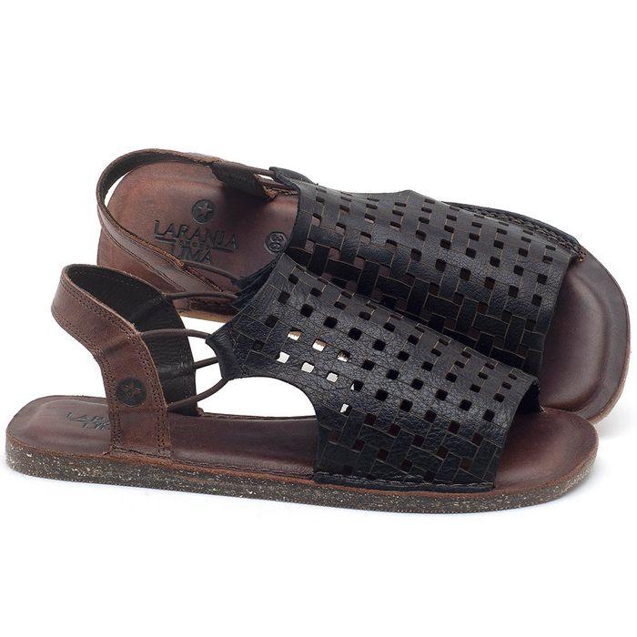 Laranja_Lima_Shoes_Sapatos_Femininos_Sandalia_Rasteira_Flat_em_Couro_Preto_-_Codigo_-_141107_1