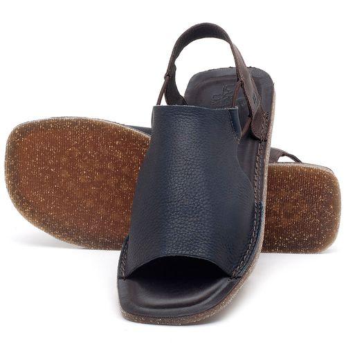 Laranja_Lima_Shoes_Sapatos_Masculinos_Rasteira_em_Couro_Azul_-_Codigo_-_141119_2