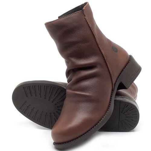 Laranja_Lima_Shoes_Sapatos_Femininos_Bota_Cano_Curto_em_Couro_Marrom_-_Codigo_-_141122_2