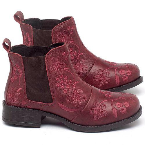 Laranja_Lima_Shoes_Sapatos_Femininos_Bota_Cano_Curto_em_Couro_Vinho_-_Codigo_-_141126_1
