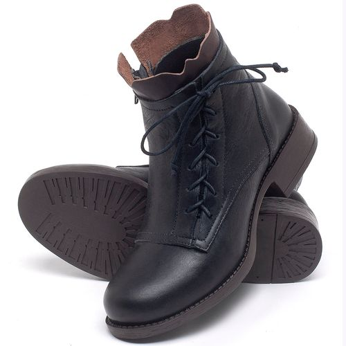 Laranja_Lima_Shoes_Sapatos_Femininos_Bota_Cano_Curto_em_Couro_Preto_-_Codigo_-_141129_2