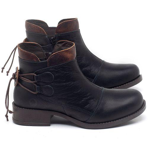 Laranja_Lima_Shoes_Sapatos_Femininos_Bota_Cano_Curto_Salto_de_3_cm_em_Couro_Preto_-_Codigo_-_141133_1