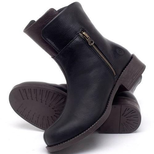 Laranja_Lima_Shoes_Sapatos_Femininos_Bota_Cano_Curto_Salto_de_3_cm_em_Couro_Preto_-_Codigo_-_141134_2