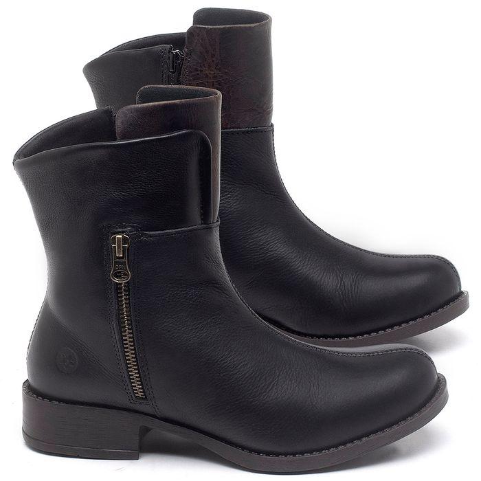 Laranja_Lima_Shoes_Sapatos_Femininos_Bota_Cano_Curto_Salto_de_3_cm_em_Couro_Preto_-_Codigo_-_141134_1