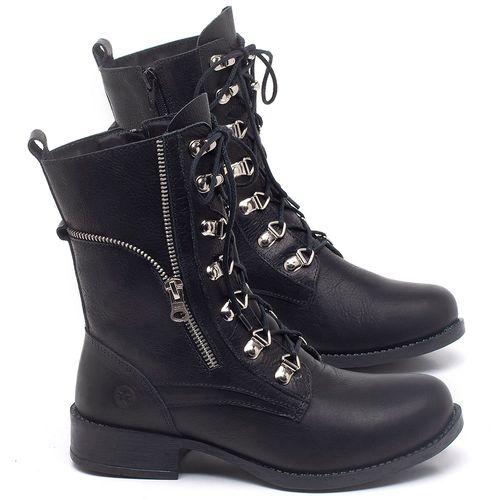 Laranja_Lima_Shoes_Sapatos_Femininos_Bota_Cano_Curto_Salto_de_3_cm_em_Couro_Preto_-_Codigo_-_141135_1
