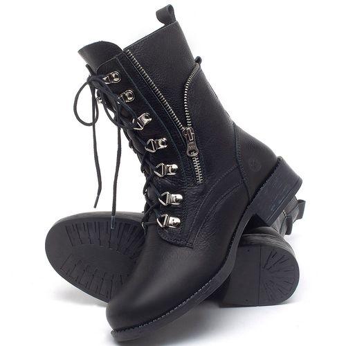 Laranja_Lima_Shoes_Sapatos_Femininos_Bota_Cano_Curto_Salto_de_3_cm_em_Couro_Preto_-_Codigo_-_141135_2