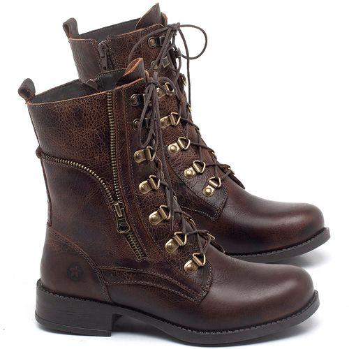 Laranja_Lima_Shoes_Sapatos_Femininos_Bota_Cano_Curto_Salto_de_3_cm_em_Couro_Marrom_-_Codigo_-_141135_1
