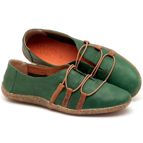 Laranja_Lima_Shoes_Sapatos_Femininos_Tenis_Cano_Baixo_em_Couro_Verde_-_Codigo_-_145006_1