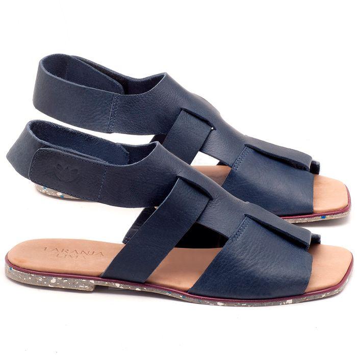 Laranja_Lima_Shoes_Sapatos_Femininos_Sandalia_Rasteira_Flat_em_Couro_Marinho_-_Codigo_-_145030_1