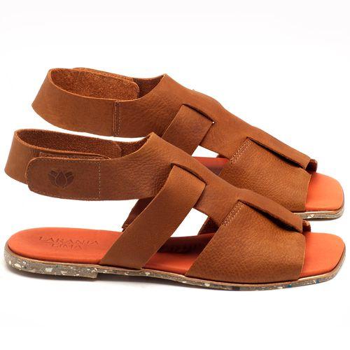 Laranja_Lima_Shoes_Sapatos_Femininos_Sandalia_Rasteira_Flat_em_Couro_Caramelo_-_Codigo_-_145030_1