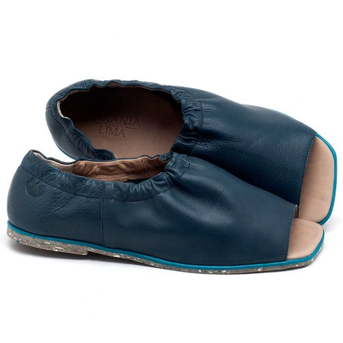 Laranja_Lima_Shoes_Sapatos_Femininos_Sandalia_Rasteira_Flat_em_Couro_Azul_-_Codigo_-_145038_1