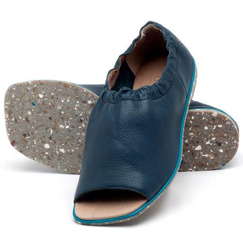 Laranja_Lima_Shoes_Sapatos_Femininos_Sandalia_Rasteira_Flat_em_Couro_Azul_-_Codigo_-_145038_2